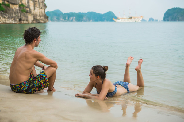 Le couple en baie d'Halong